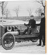 Barney Oldfield And Henry Ford Wood Print