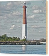 Barngat Lighthouse - Long Beach Island Nj Wood Print
