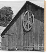 Barns For Peace Wood Print