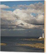 Barns Ness Lighthouse  East Lothian Wood Print