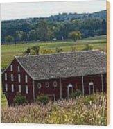 Barns Of Gettysburg 1a Wood Print