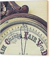 Barometer Wood Print by Tom Gowanlock