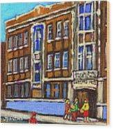 Baron Byng High School 4251 St. Urbain Street Plateau Montreal City  Scene Carole Spandau Montreal A Wood Print