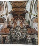 Baroque Grand Organ In Oude Kerk Wood Print