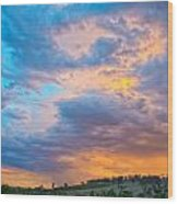 Barossa Valley Sunset Wood Print