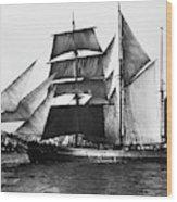 Barquentine, 1871 Wood Print