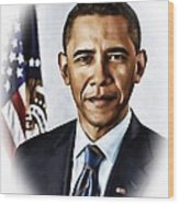 Barrack Obama Wood Print