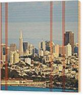 Barred City Wood Print