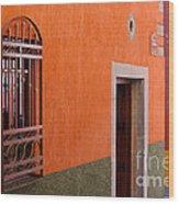 Barred Window, Mexico Wood Print