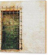 Barred Window Wood Print