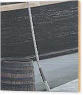 Barrel And Ship Wood Print