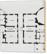 Barrel House Floor Plan In Landscape Wood Print