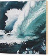 Barreling Storm Wood Print