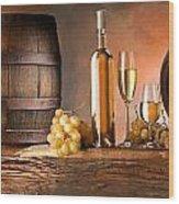 Barrels Grapes Wood Print