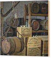 Barrels Wood Print by James Barber
