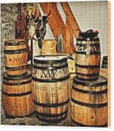 Barrels  Wood Print by Marty Koch