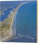 Barrier Island Aerial Wood Print