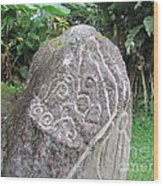 Barriles Carved Stone Indian Wood Print