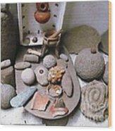 Barriles Indian Relics Wood Print