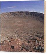 Barringer Crater, Fisheye View Wood Print