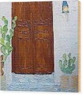 Barrio Doorway Wood Print