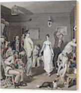 Barroom Dancing, C1820 Wood Print