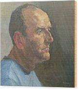 Barry, 2008 Oil On Canvas Wood Print