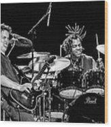 Barry Alexander Drumming For Johnny Lang Wood Print