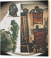 Barry Sadler And Part Of His Weapon's  Nazi Memorabilia Collection Collage Tucson Arizona 1971-2013 Wood Print