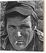 Barry Sadler The Green Berets Homage 1968 Tucson Arizona 1971-2008 Wood Print