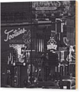 Bars On Broadway Nashville Wood Print by Dan Sproul