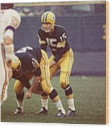 Bart Starr Vs. Vikings Wood Print by Retro Images Archive