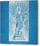Bartholdi Statue Of Liberty Patent Art 1879 Blueprint Wood Print