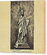 Bartholdi Statue Of Liberty Patent Art 1879 Wood Print by Ian Monk