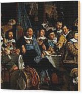Bartholomeus Van Der Helst Banquet Of The Amsterdam Civic Guard In Celebration Of The Peace Of Munst Wood Print