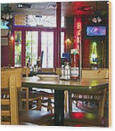 Bartime Wood Print by Kenneth Feliciano