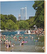 Barton Springs Pool Wood Print