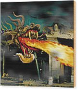 Barton The Mutant Salamander Wood Print