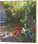 Bartram Red Flowers Wood Print