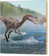 Baryonyx Dinosaur Wood Print