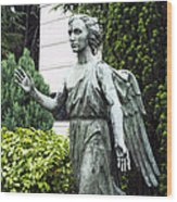Barzaghi Memorial Side View II Detail Monumental Cemetery Wood Print