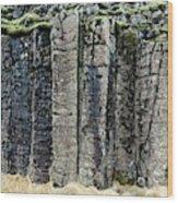 Basalt Columns Wood Print