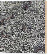 Basalt Topography Wood Print