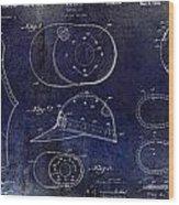 Baseball Patent Blue Wood Print