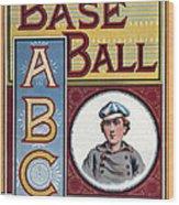 Baseball Abc Wood Print by McLoughlin Bros