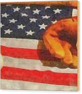 Baseball An American Pastime Wood Print