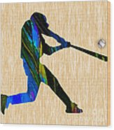 Baseball Art Wood Print