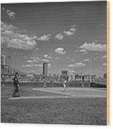 Baseball At Wrigley In The 1990s Wood Print