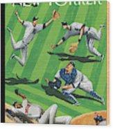 Baseball Ballet Wood Print