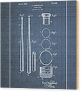 Baseball Bat By Lloyd Middlekauff - Vintage Patent Blueprint Wood Print